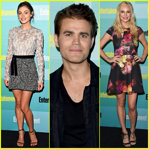 Paul Wesley & Phoebe Tonkin Party With Vampires at EW's Comic-Con 2015 Bash