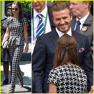 David Beckham Mingles with Pippa Middleton in Wimbledon's Royal Box