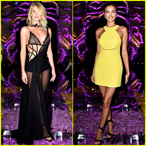 Rosie Huntington-Whiteley & Irina Shayk Sit Front Row for Atelier Versace Show at Paris Fashion Week