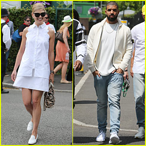 Rosamund Pike, Drake & Others Attend Wimbledon Tennis Championships