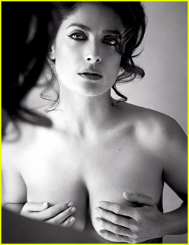 Salma Hayek Goes Topless For 'Allure' Mag!