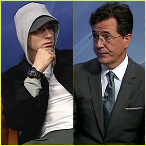 Watch Stephen Colbert Hilariously Interview Eminem on 'Only in Monroe' Public Access Show