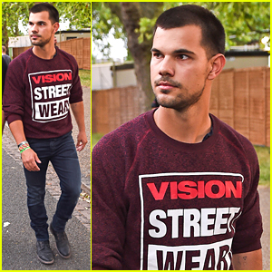 Taylor Lautner Shows Off Buzz Cut At Wireless Festival