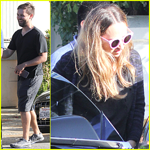 Tobey Maguire & Jennifer Meyer Celebrate Independence Day in Malibu