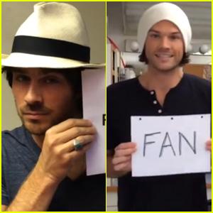 Watch Ian Somerhalder, Jared Padalecki, & More WBTV Stars Describe Comic-Con in 3 Words (Video)