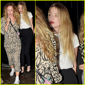 Amber Heard Has a Night Out in London with Friends
