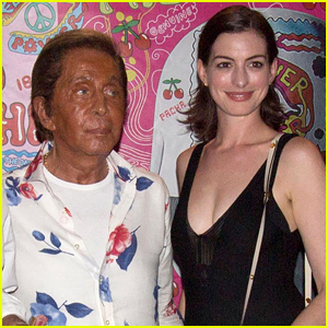 Anne Hathaway Parties with Valentino in Ibiza