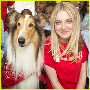 Dakota Fanning & Lassie Team Up at Save The Children's Katrina Anniversary Prep Rally!
