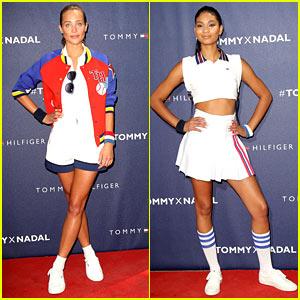 Hannah Davis Chanel Iman Bring Fashion To Tennis World