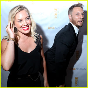 Hilary Duff Takes Silly Photos at Trainer Jason Walsh's Party