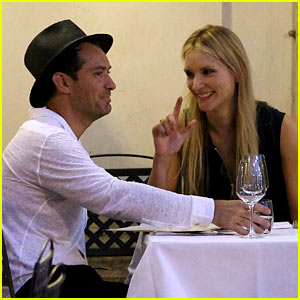 Jude Law Enjoys Romantic Dinner with Girlfriend Phillipa Coan