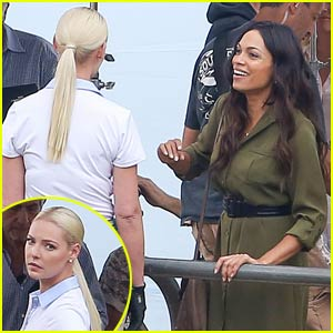 Katherine Heigl & Rosario Dawson Spend Time With Horses While Filming Their New Movie 'Unforgettable'