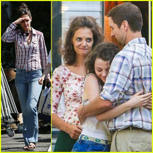Katie Holmes & Stefania Owen Film Emotional 'All We Had' Scene With Luke Wilson