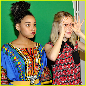 Kiernan Shipka & Amandla Stenberg Make Funny Faces In The Photo Booth At Teen Vogue's Back To School Bash