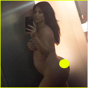 Kim Kardashian Shares Completely Naked Selfie to Dispel Fake Pregnancy Rumors
