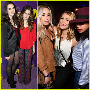Laura & Vanessa Marano Get In Sister Time at Just Jared's Wonderland Party Presented by Ever After High!