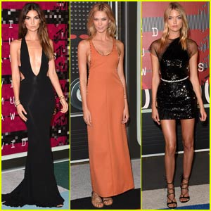 Lily Aldridge & Karlie Kloss Are Picture Perfect at MTV VMAs 2015 With Martha Hunt
