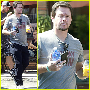 Mark Wahlberg Celebrates Christmas in August