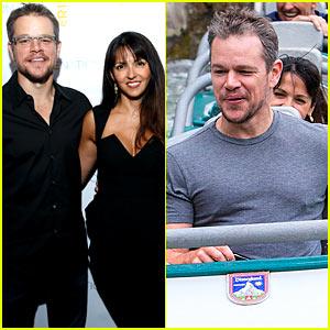 Matt Damon & Luciana Enjoy Night Out After Disneyland Trip