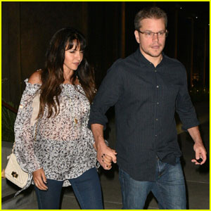 Matt Damon Holds Hands With Wife Luciana for Date Night