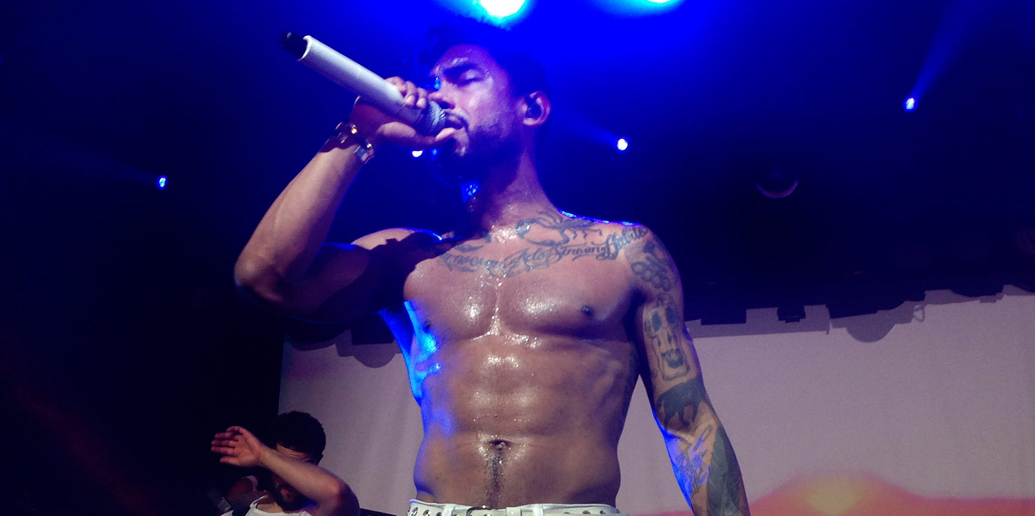 Singer miguel shirtless