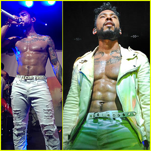 Miguel Goes Shirtless in Seattle, Flaunts His Amazing Abs