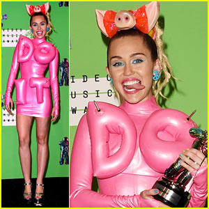 Miley Cyrus Wears Spandex 'Do It' Dress in VMAs Press Room