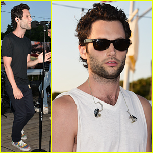 Penn Badgley Hits The Stage with Mothxr In Montauk!