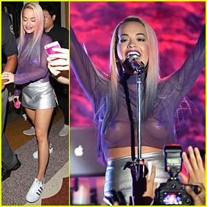 Rita Ora Brings Wiz Khalifa On Stage With Her At El Rey Concert