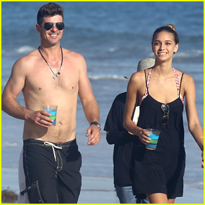 Robin Thicke Goes Shirtless for a Beach Day with April Love Geary!