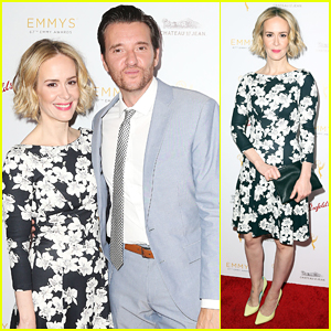 Sarah Paulson Gets Floral For TV Academy's Pre-Emmys Bash!