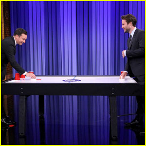 Watch Taylor Kitsch Play Beer Hockey Against Jimmy Fallon!
