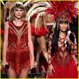 Taylor Swift & Nicki Minaj Open the MTV VMAs 2015 (Video)