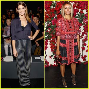 Ashley Greene & Kat Graham Mingle at Naeem Khan Show