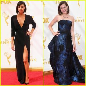 Aubrey Plaza & Kristen Schaal Step Out for Emmy Awards 2015
