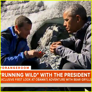President Obama & Bear Grylls Eat Raw Salmon on 'Running Wild' - First Look Clip!