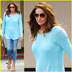 Caitlyn Jenner Puts Her Bra on Display in a Sheer Sweater