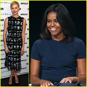 Charlize Theron's Coolest High Five Ever: Michelle Obama!