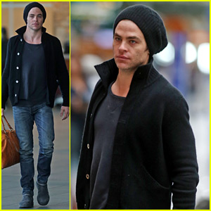 Chris Pine Jets Out of Town After 'Star Trek Beyond' Filming