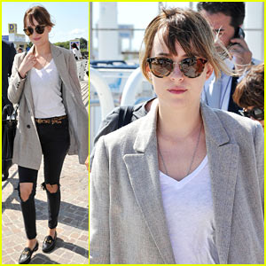 Dakota Johnson Goes Casual for Latest Venice Appearance