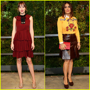 Dakoka Johnson & Salma Hayek Are Gucci Girls in Milan