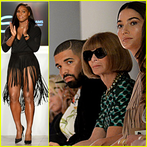 Drake Supports Serena Williams at Her NYFW Show