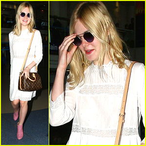 Elle Fanning Makes It A Quick Trip To New York City