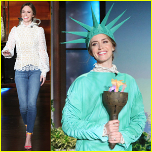 Emily Blunt Gets A Patriotic Scare On 'Ellen' - Watch Here!