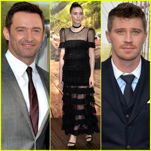 Hugh Jackman Premieres 'Pan' With Rooney Mara & Garrett Hedlund in London