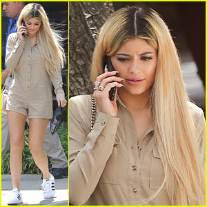 Kylie Jenner Steps Out as a Blonde for the Firs