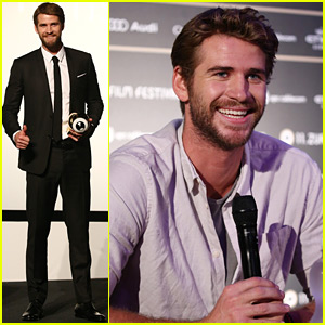 Liam Hemsworth Awarded the Golden Eye Award at Zurich Film Festival!