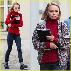 Lily-Rose Depp Hits Paris with Model Stella Maxwell