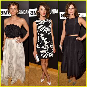 Maggie Gyllenhaal & Abigail Spencer Keep It Classy In Black & White At Emmys After Party 2015!