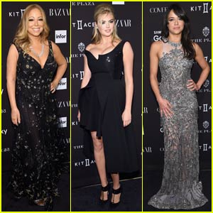 Mariah Carey & Kate Upton Both Show Off Major Cleavage at Harper's Bazaar Icons Event in the Big Apple